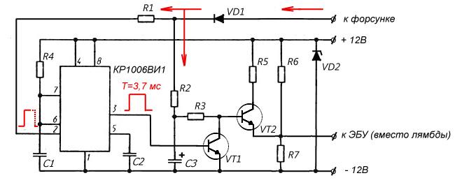 Эмулятор датчика кислорода