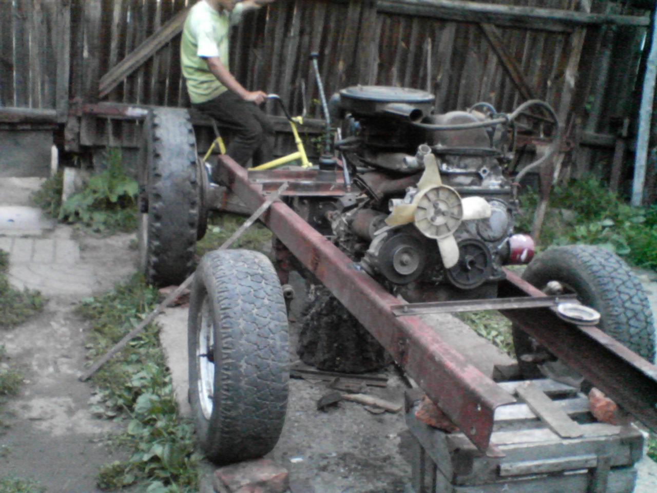 Сделать самодельный трактор из ваза