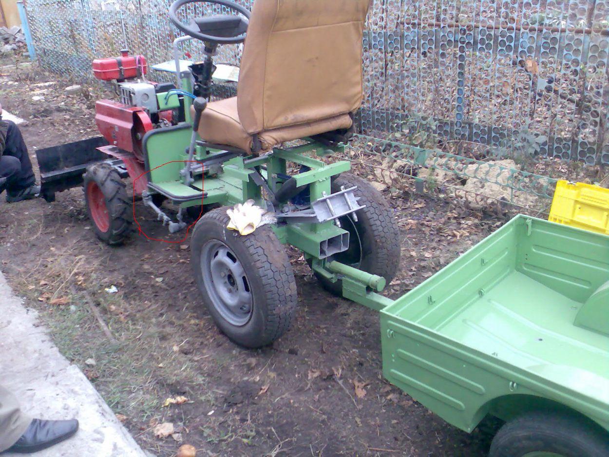 Как из мотороллера сделать трактор