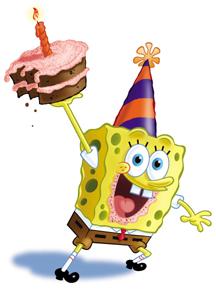 картинки с днём рождения губка боб